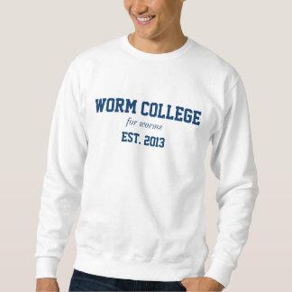worm college shirt
