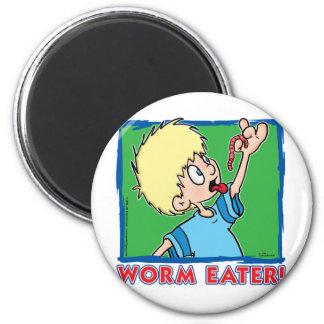 Worm Eater Fridge Magnet