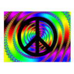 Worm Hole with Black Peace Sign