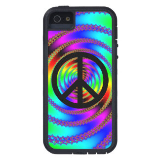 Worm Hole with Black Peace Sign iPhone 5 Cover
