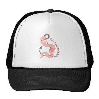 Worm_Something_Smells_Fishy Mesh Hat