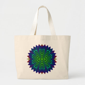 Wormhole Fractal Neon Green Space Tubes Bag
