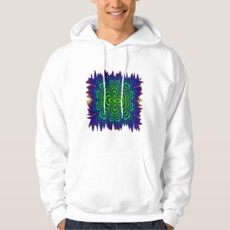 Wormhole Fractal Neon Green Space Tubes Hoodie