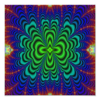 Wormhole Fractal Neon Green Space Tubes Photograph