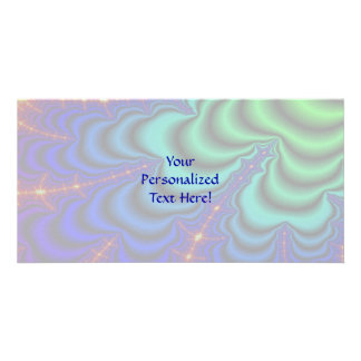 Wormhole Fractal Space Tube Photo Card Template