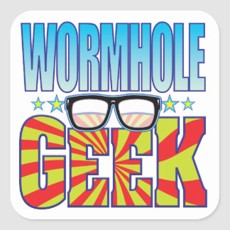 Wormhole Geek v4 Square Sticker