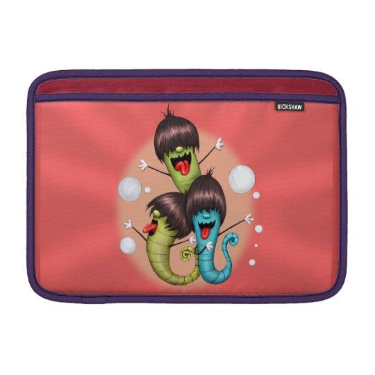"""WORMS ALIENS MONSTERS Macbook Air 11 """" MacBook Sleeve"""
