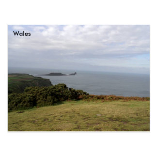 Worms Head, The Gower, South Wales. Postcard
