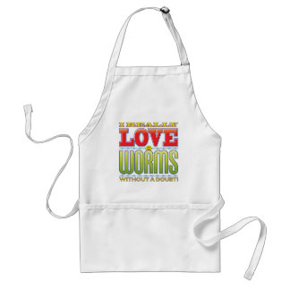 Worms Love Face Aprons
