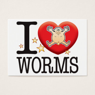 Worms Love Man Business Card