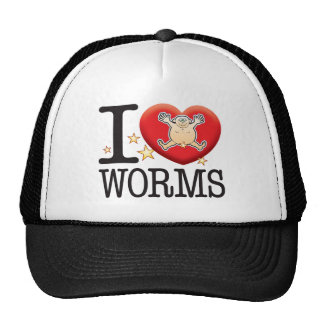 Worms Love Man Cap