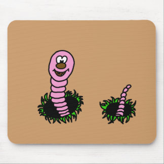 wormy mouse pad