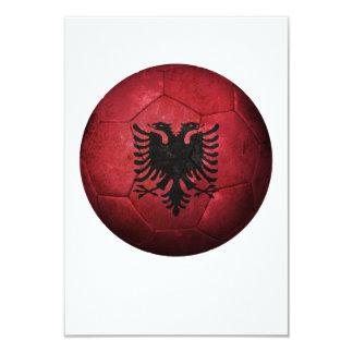 Worn Albanian Flag Football Soccer Ball Invitation