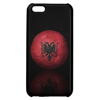 Worn Albanian Flag Football Soccer Ball iPhone 5C Case