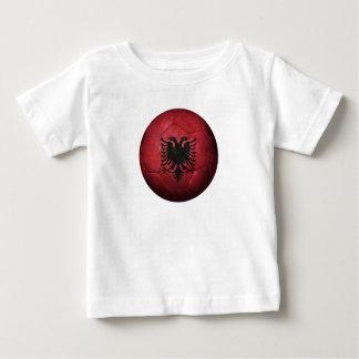 Worn Albanian Flag Football Soccer Ball Tshirts
