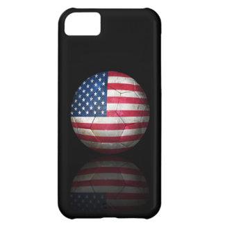 Worn American Flag Football Soccer Ball iPhone 5C Case