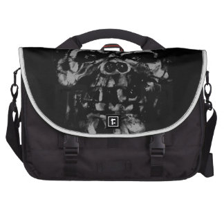 Worn and Damaged Skull Laptop Bags