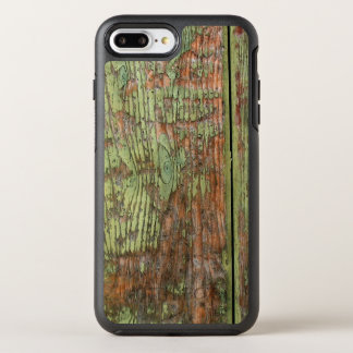 Worn and Weathered Green Barn Wood OtterBox Symmetry iPhone 7 Plus Case