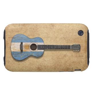 Worn Argentinian Flag Acoustic Guitar Tough iPhone 3 Case