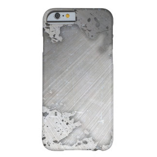 Worn Brushed Metal (faux) Layout Barely There iPhone 6 Case