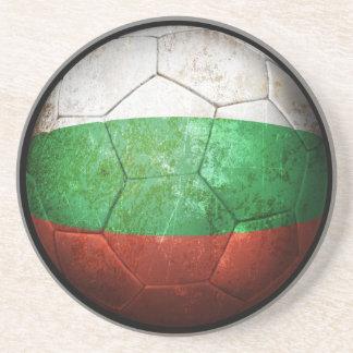 Worn Bulgarian Flag Football Soccer Ball Coaster