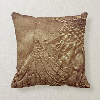 Worn Butterfly Nature American MoJo Pillow Cushion