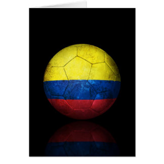 Worn Colombian Flag Football Soccer Ball Card