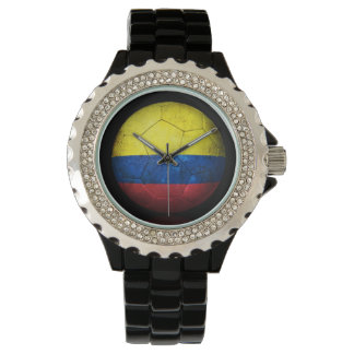 Worn Colombian Flag Football Soccer Ball Watch