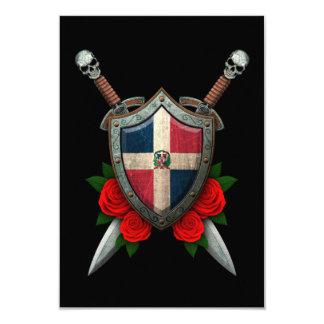 Worn Dominican Republic Flag Shield and Swords Invites