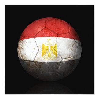 Worn Egyptian Flag Football Soccer Ball Custom Invites