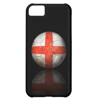 Worn English Flag Football Soccer Ball iPhone 5C Case