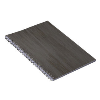 Worn Grungy Brushed Metal Spiral Notebook