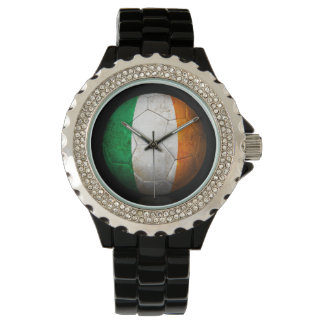 Worn Irish Flag Football Soccer Ball Watch