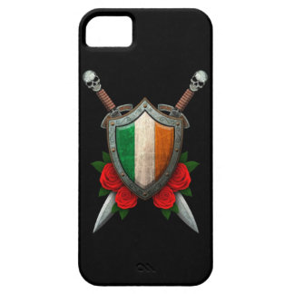 Worn Irish Flag Shield and Swords with Roses iPhone 5 Cases