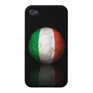Worn Italian Flag Football Soccer Ball Cover For iPhone 4