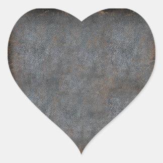 Worn Leather Antique Book Heart Sticker