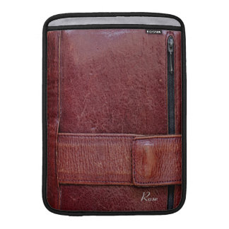 "Worn Leather Effect For Macbook Air 13"" MacBook Sleeve"