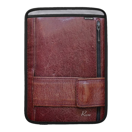 """Worn Leather Effect For Macbook Air 13"""" Sleeve"""