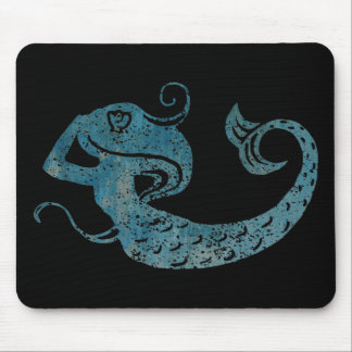 Worn Mermaid Mouse Mat