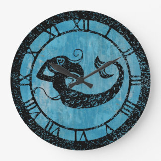 Worn Mermaid Wallclocks