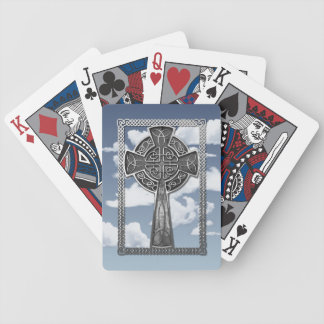 Worn Metal Cross Bicycle Playing Cards