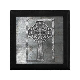 Worn Metal Cross Gift Box