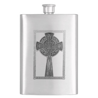 Worn Metal Cross Hip Flask