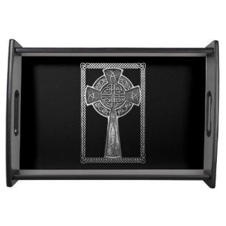 Worn Metal Cross Serving Tray