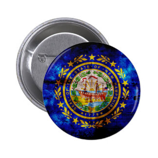 Worn New Hampshire Flag Buttons