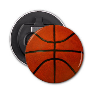 Worn Orange Basketball Bottle Opener