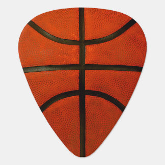 Worn Orange Basketball Guitar Pick