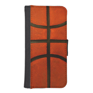 Worn Orange Basketball iPhone SE/5/5s Wallet Case