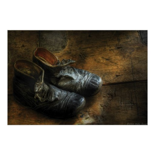 Worn out shoes - poster land