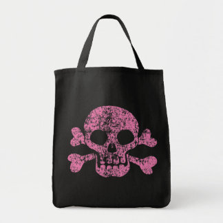 Worn Out Skull and Crossbones Tote Bag